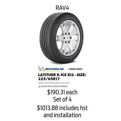 Winter Tire Package Specials: RAV4